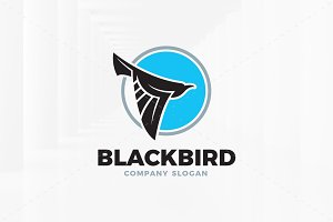 Black Bird Logo Template