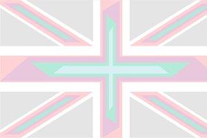 British flag light colors