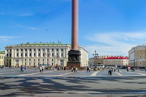 View Winter Palace square Petersburg
