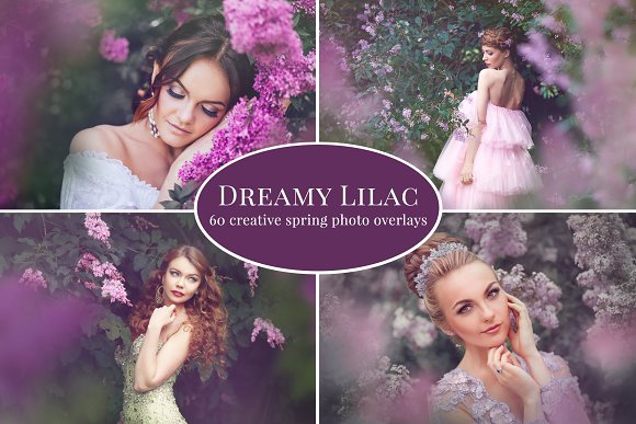Dreamy Lilac Photo Overlays