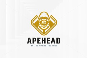 Ape Head Logo Template