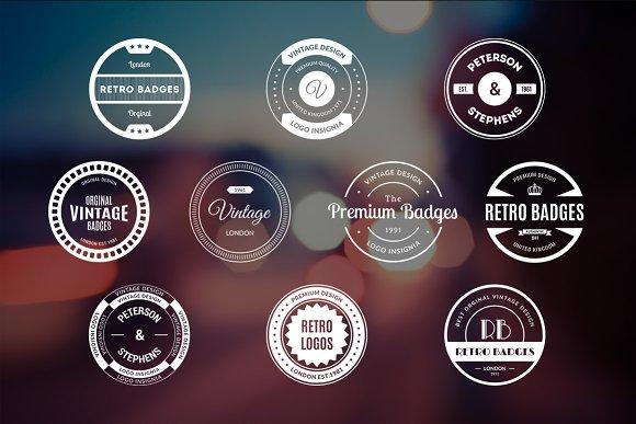 10 Retro Badges Vol. 9 - Logos