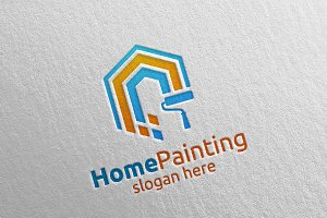 Home Painting Vector Logo Design 11