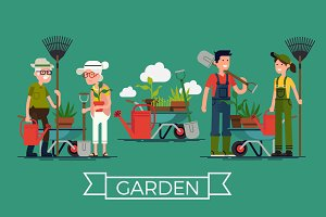 Flat Characters: Gardeners