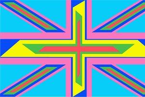 British flag modern design