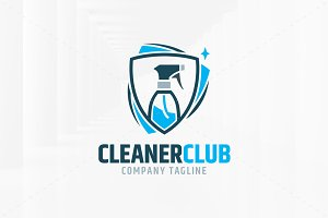 Cleaner Club Logo Template
