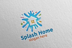 Home Painting Vector Logo Design 12