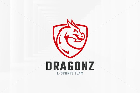 Dragon Shield Logo Template