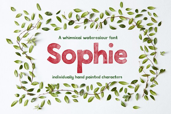 Sophie Watercolour Display Font
