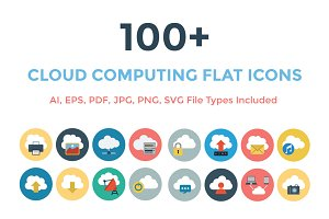 100+ Cloud Computing Flat Icons
