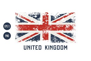 UK vector textured design