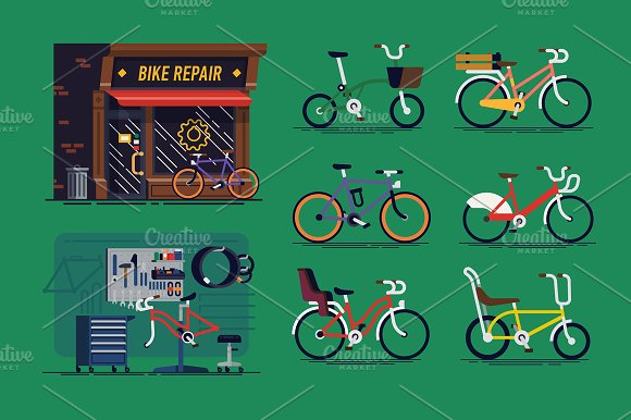 Bicycle Repair Shop Bicycles
