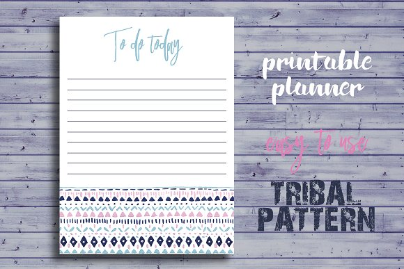 Cute Daily Printable Planner