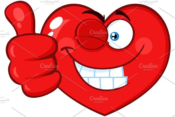Smiling Red Heart Character