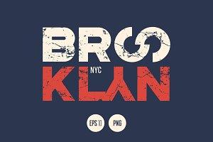 Brooklyn vector textured design