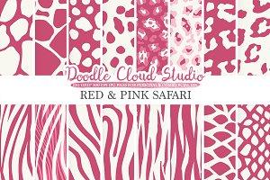 Red and Pink Animal Safari