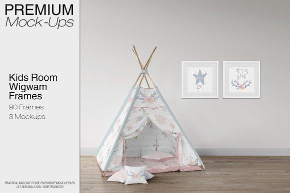 Kids Room Wigwam Wall Frames