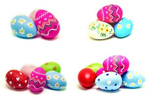 Collage perfect Easter eggs