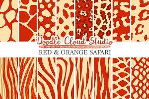 Red and Orange Animal Safari