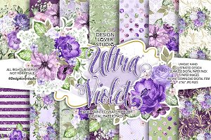 Ultra Violet digital paper pack