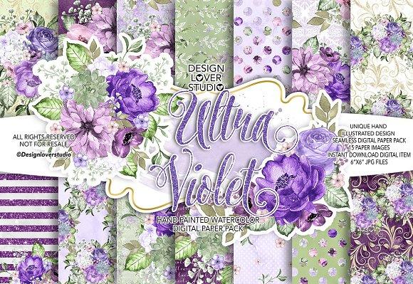 Ultra Violet Digital Paper Pack