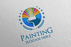 Home Painting Vector Logo Design 14