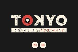 Tokyo vector textured design