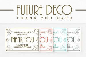 FutureDeco Thank You Card