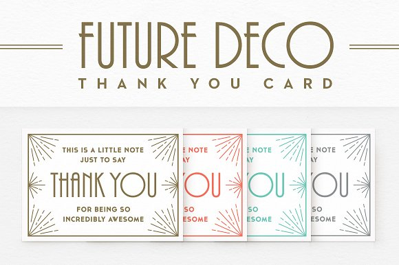 futuredeco thank you card card templates creative market