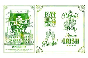 St. Patric Poster + Design Elements