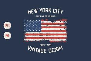 NYC vector grunge design