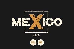 Mexico vector textured design