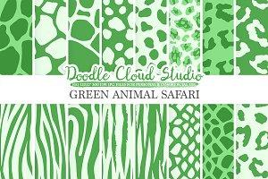 Dark Green Animal Safari digital