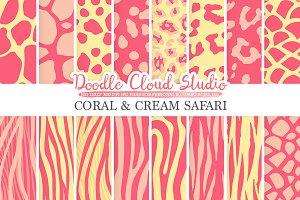 Coral and Cream Animal Safari