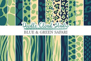 Blue and Green Animal Safari digital