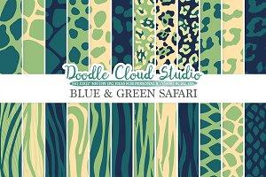 Blue and Green Animal Safari digital