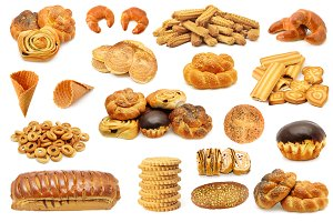 Set bread baked products