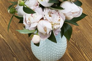 peonies bouquet , top