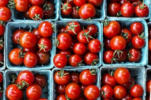 Red tomatoes from farms