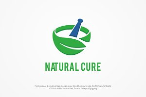 Natural Cure Logo template