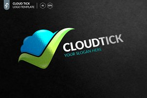 Cloud Tick Logo