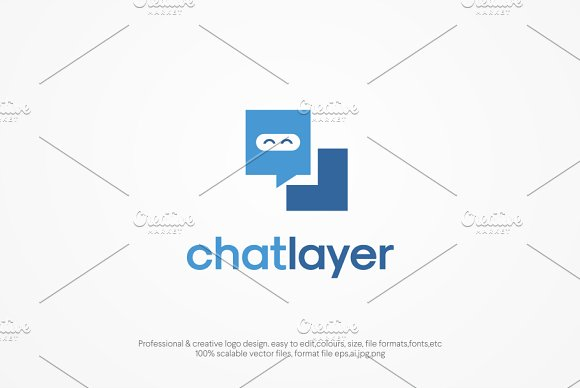 chat layer Logo template