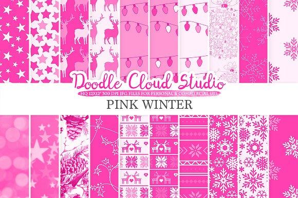 Pink Winter Digital Paper