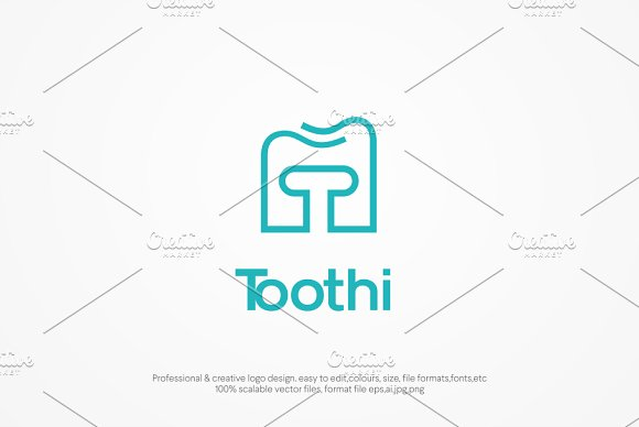 Tooth Box Logo template in Logo Templates - product preview 2