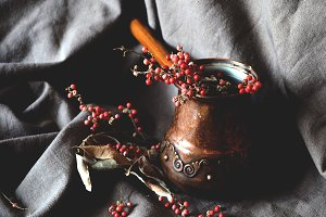 Still life with turkish coffee pot