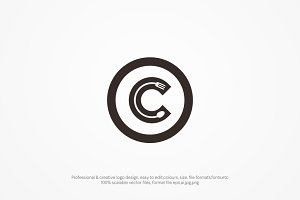 C letter Food logo template