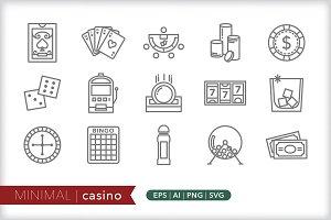 Minimal casion icons