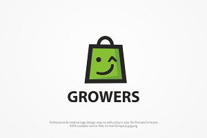 Grower Retail Logo template