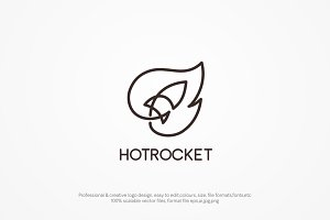 hot rocket logo template