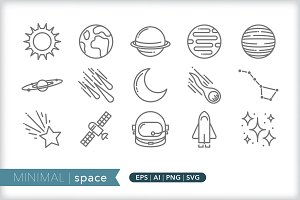 Minimal space icons